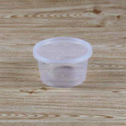 กล่องอาหารกลม 16 oz+ฝาสีใส
